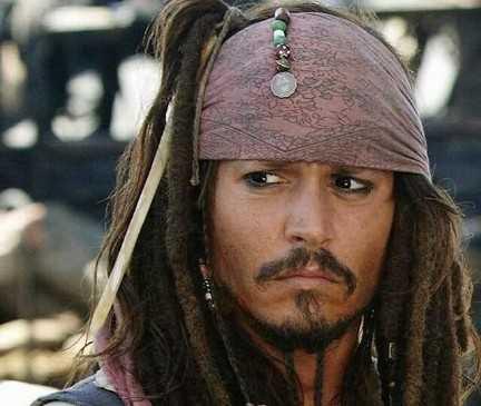 Johnny Depp kaptan jack sparrow